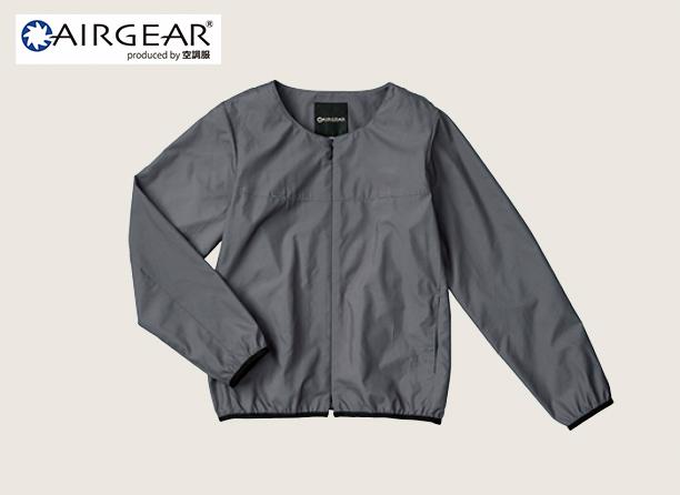 AR12121 AIRGEAR® レディースノーカラーブルゾン空調服™の写真